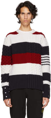 Thom Browne Multicolor Funmix Four Bar Sweater