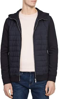 Reiss Hamish Quilted-Front Hooded Jacket