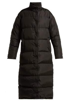 Prada Down Quilted Technical Nylon Padded Coat - Womens - Black