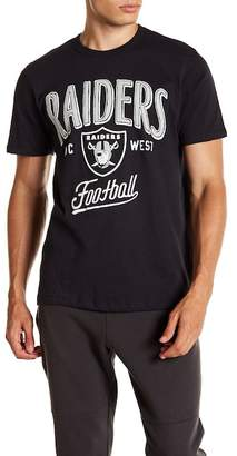 Junk Food Clothing Oakland Raiders Kick Off Crew Tee
