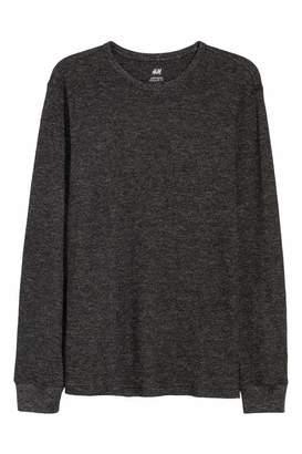 H&M Waffled Shirt - Black melange - Men