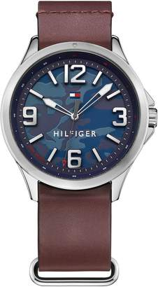 Tommy Hilfiger Dress Watch With Leather Strap