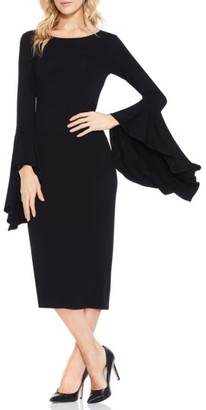 Women's Vince Camuto Bell Sleeve Midi Dress $99 thestylecure.com