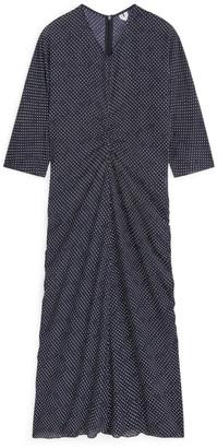 Arket Dotted Viscose Crepe Dress