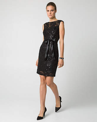 Le Château Sequin Soutache Shift Cocktail Dress
