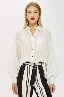 Topshop Self-Stripe Shirt