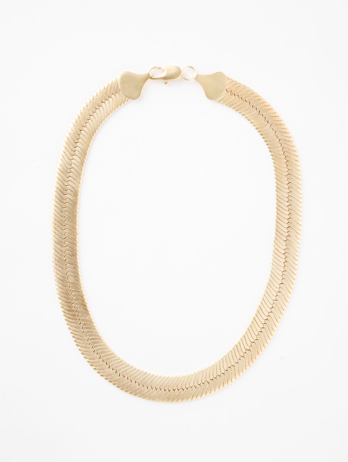 Wide Chain Collar Necklace by Lori's Shoes