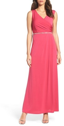 Women's Ellen Tracy Embellished Drape Back Gown $168 thestylecure.com