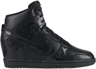 Nike Dunk High Sky Hi Black Leather Snake (GS)