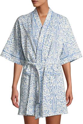 BedHead Cheetah Half-Sleeve Short Robe
