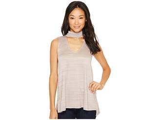 Bobeau B Collection by Anjali Knit Chocker Top Women's Sleeveless