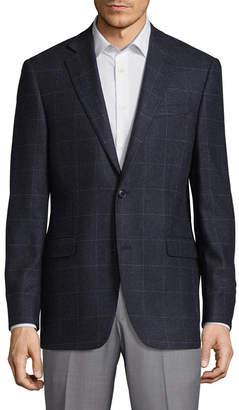 Saks Fifth Avenue Windowpane Slim Fit Cashmere Sportcoat
