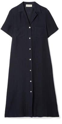 Linen Midi Dress - Midnight blue