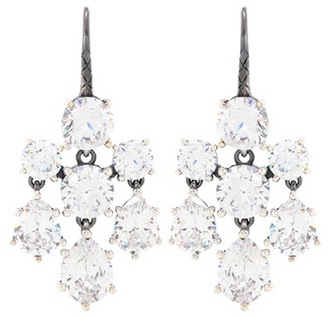 Bottega VenetaBottega Veneta Crystal-embellished Silver Earrings
