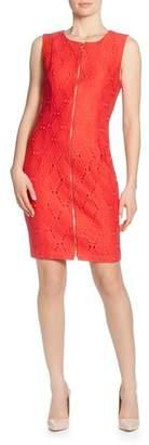 T Tahari Sleeveless Zip-Front Dress