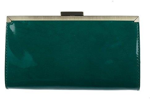 Italian patent-leather Sonia clutch