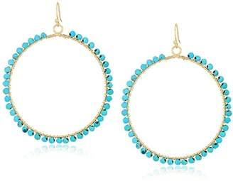 Ettika Womens Tone Wrapped Hoop Earrings