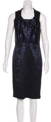Magaschoni Metallic Midi Dress