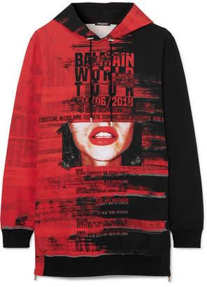 Balmain Printed Neoprene Hoodie - Red