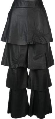 Osman layered leather trousers