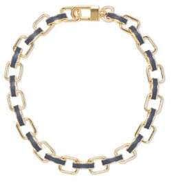 Vince Camuto Leather Link Necklace