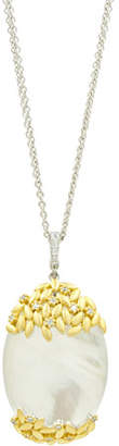 Freida Rothman Fleur Bloom Mother-of-Pearl Oval Pendant Necklace