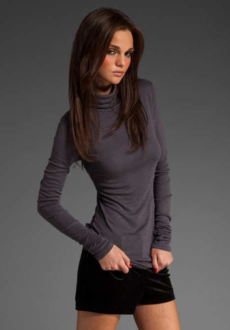 Michael Stars Slub Long Sleeve Turtleneck