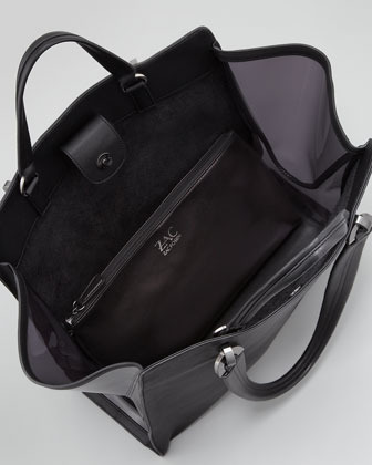 Zac Posen Eartha Large Soft Shopper Bag, Black/Midnight