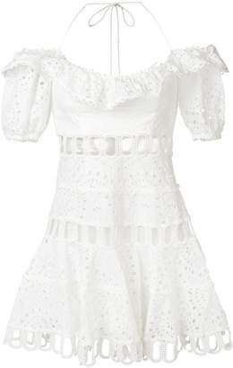 Zimmermann off shoulder embroidered dress