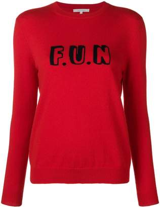 Parker Chinti & slogan embroidered sweater