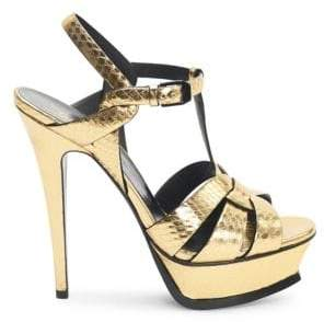 Saint Laurent Tribute 105 Ayer Platform Sandals
