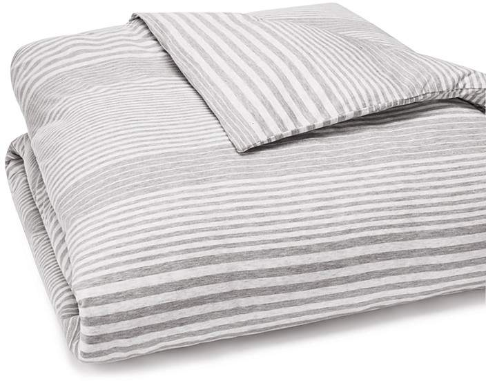 Modern Cotton Jersey Rhythm Duvet Cover, King
