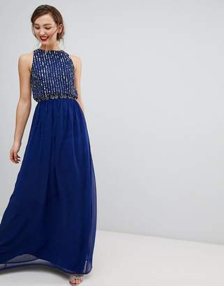 Frock and Frill Frock & Frill Maxi Dress With Heavily Embellished Body