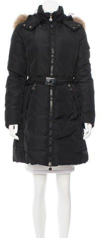 MonclerMoncler Fur-Trimmed Marmelade Coat