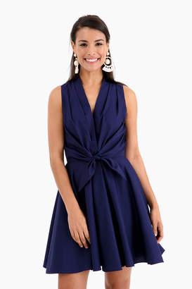 Amanda Uprichard Swingy Tie Front Dress