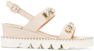 Baldinini embellished sling-back sandals