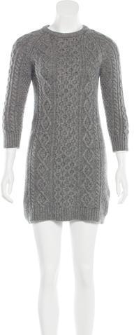 Alexander WangAlexander Wang Cashmere Cable Knit Dress
