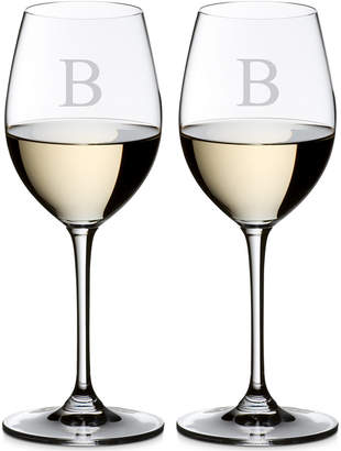 Riedel Vinum Monogram Collection 2-Pc. Block Letter Sauvignon Blanc Wine Glasses