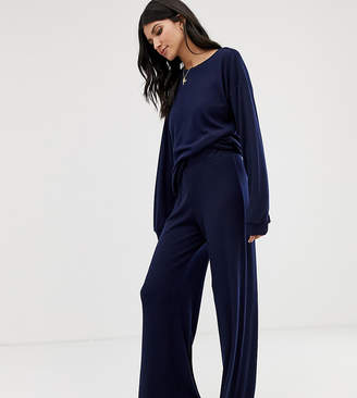 Asos Tall DESIGN Tall mix & match lounge ribbed wide leg pants