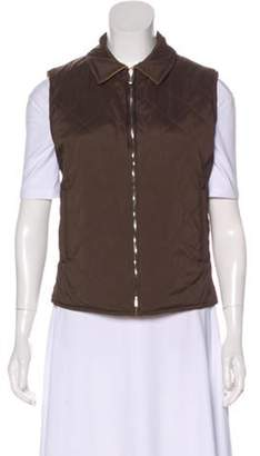 Loro Piana Reversible Quilted Vest Brown Reversible Quilted Vest