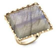 Lana Gloss Studded Gold Ring