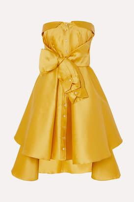 Alexis Mabille Bow-detailed Satin-twill Mini Dress - Yellow