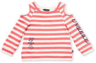 Nautica Toddler Girls) Stripe Cold Shoulder Pullover
