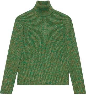 Gucci Cable knit cotton lurex turtleneck