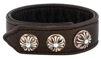 Chrome Hearts Maltese Cross Leather Wrap Bracelet