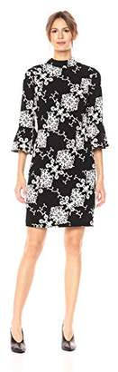 Adrianna Papell Women's Fit and Flare Sleeve Sheath