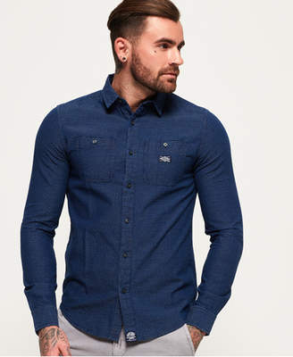 Superdry Indigo Loom Long Sleeve Shirt