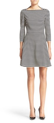 Kate Spade New York Stripe Fit & Flare Dress $260 thestylecure.com