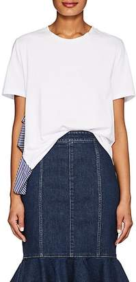 Opening Ceremony WOMEN'S RUFFLE-TRIMMED COTTON-BLEND T-SHIRT - WHITE SIZE S