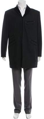 Rag & Bone Wool Leather-Trimmed Overcoat